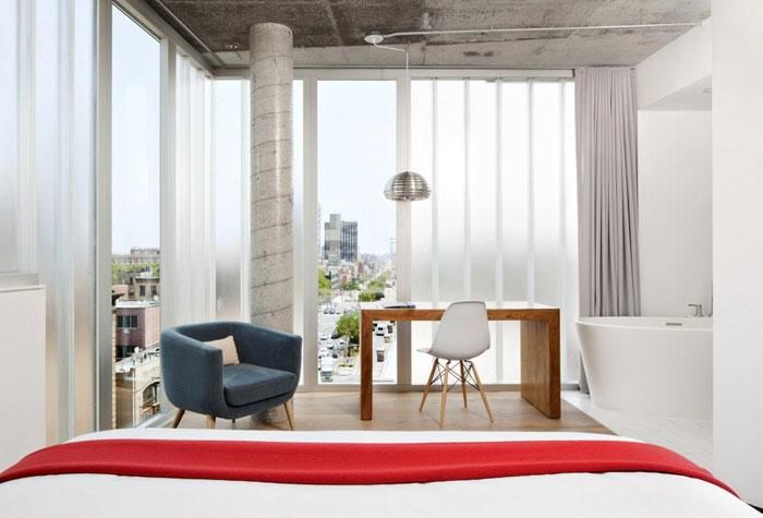 boutique hotel bedroom interior