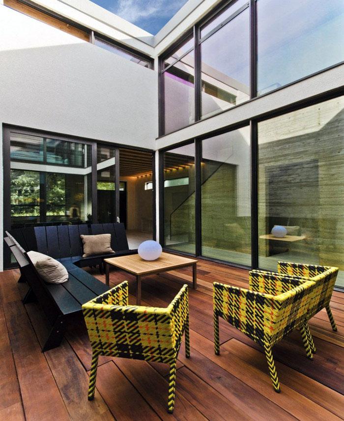 garden modern living space
