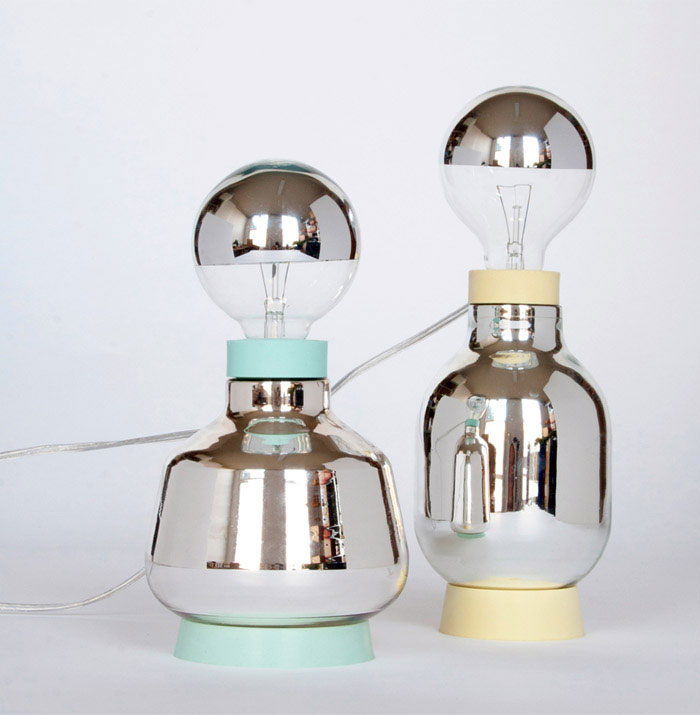 lamps inspired laboratory glassware