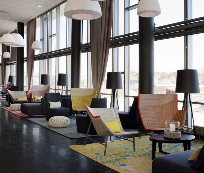 modern colourful hotel