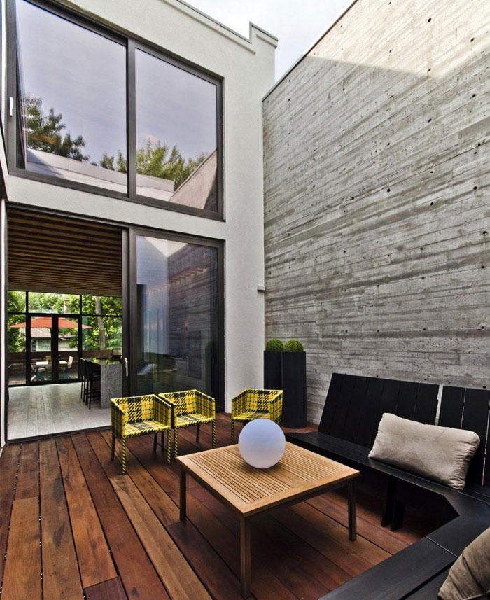 outdoor modern living space