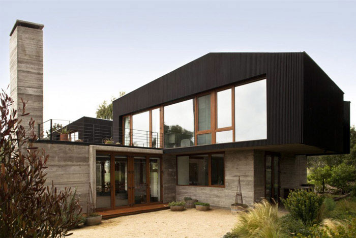 rock house attractive outside space