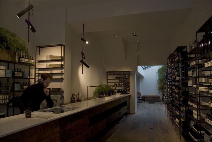 aesop store lighting decor