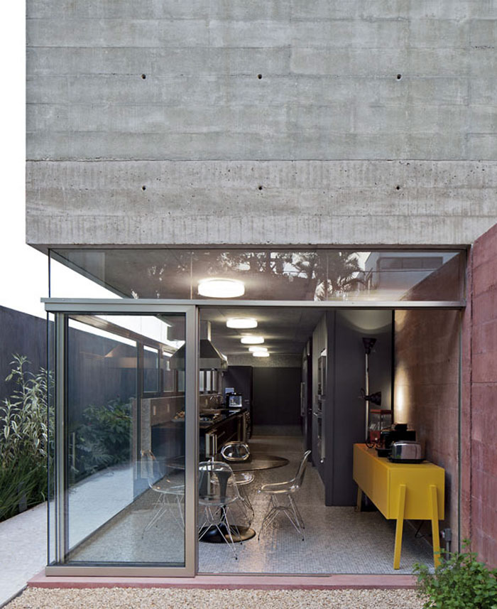 concrete wall house