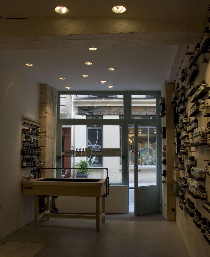 light newly opened aesop store