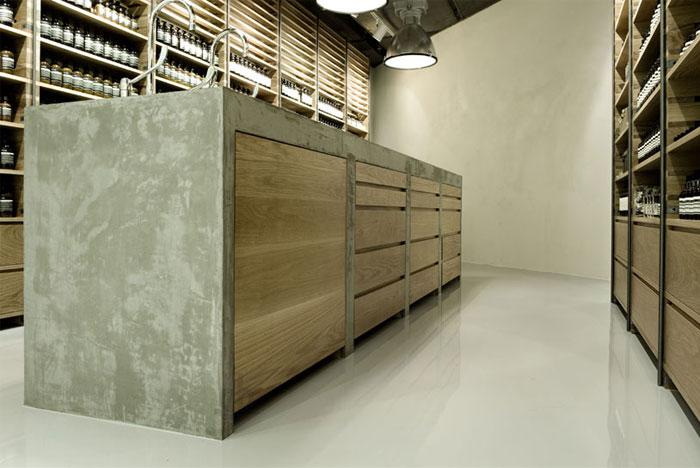aesop sgnature store furniture design