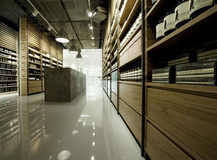 aesop sgnature store interior design