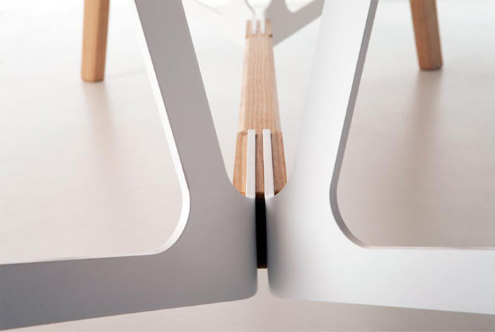 wooden legs metal frame
