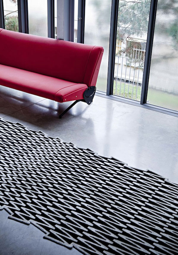 contemporary rug collection black white