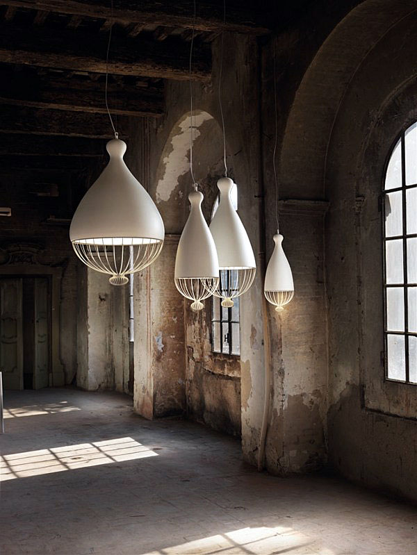 suspended lamps rounded shapes1