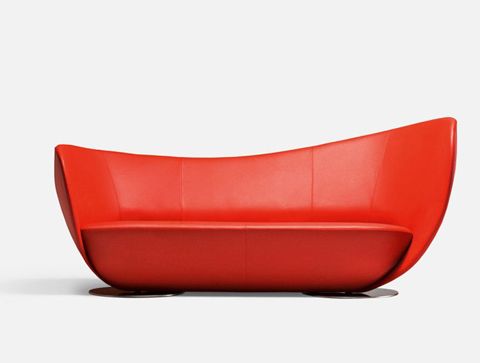 dynamic shape red sofa1