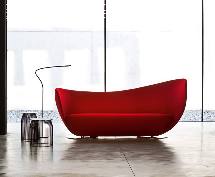 dynamic shape red sofa2