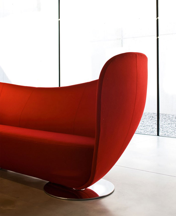 dynamic shape red sofa4
