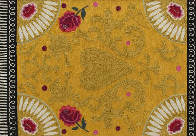 patterned handmade wool rug1