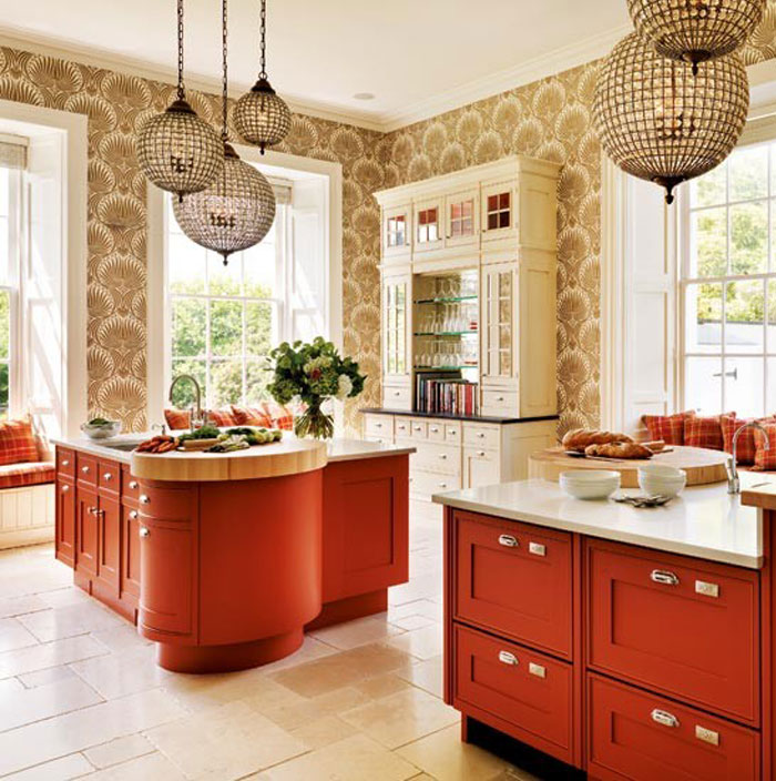 choosing-new-kitchen- red-kitchen-cabinets