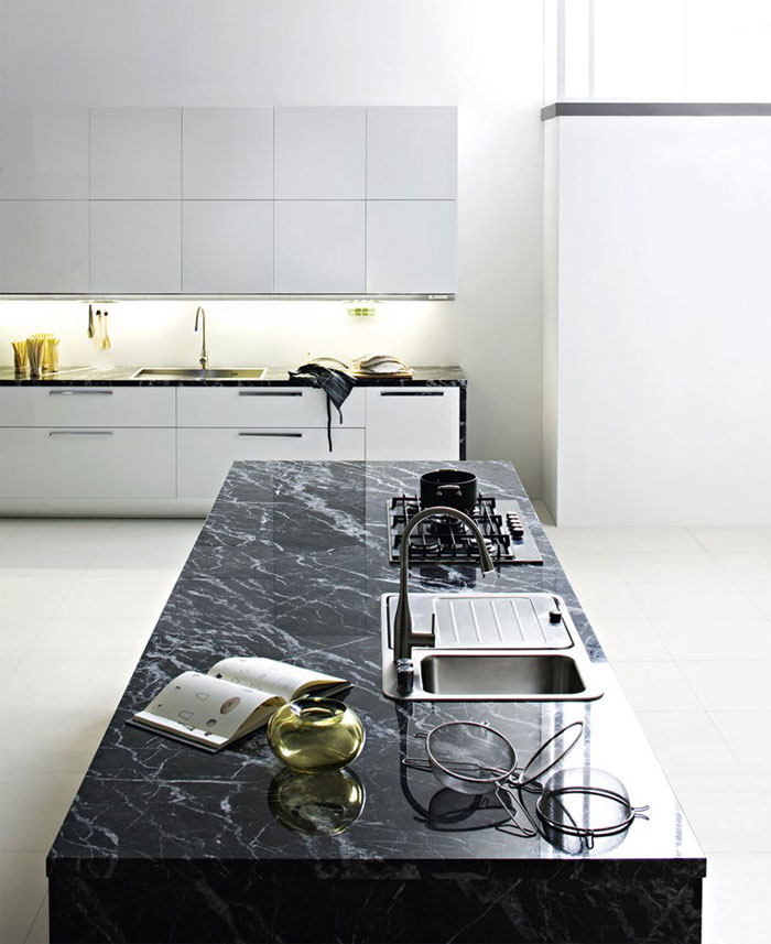 black-marble-top-kitchen