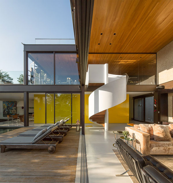 limantos residence wood ceiling