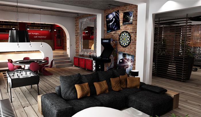 pop aesthetic living room