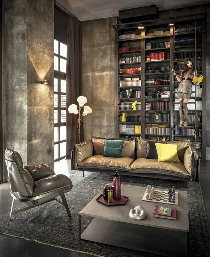 timeless-glamour-style-interior-leather-sofa