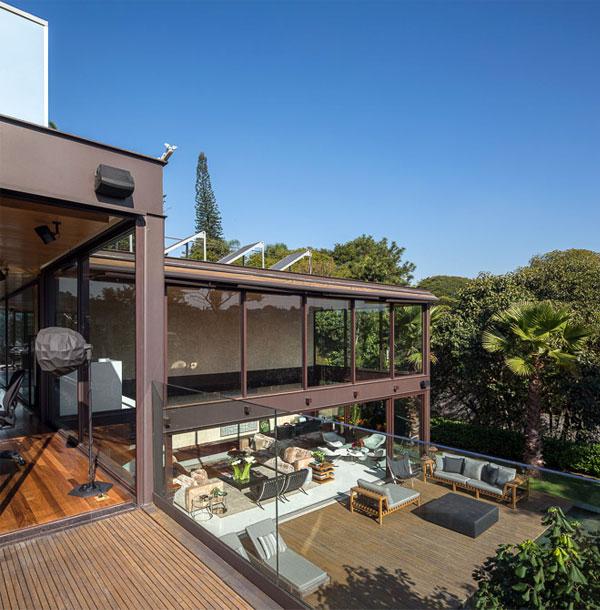 two storey house garden
