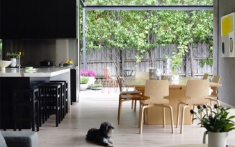 elegant interior design kitchen entirely black veneer 338x212