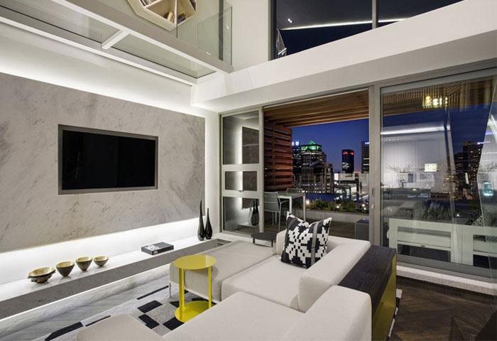 monochromatic interior living room