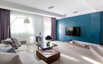 simple clean lines white beige–grayish interior 338x212