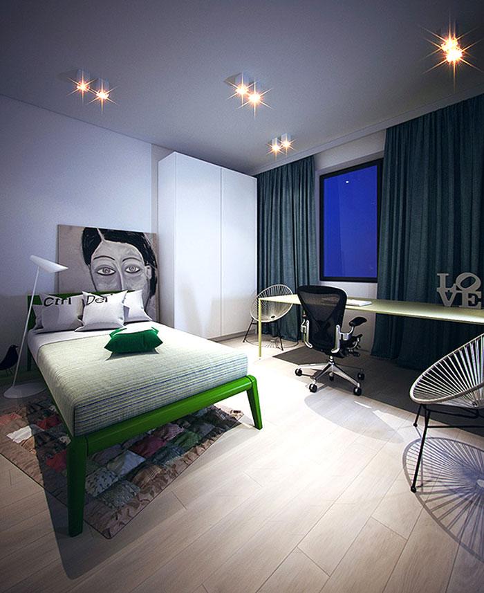 artistic-bedroom-simple-contemporary-idea