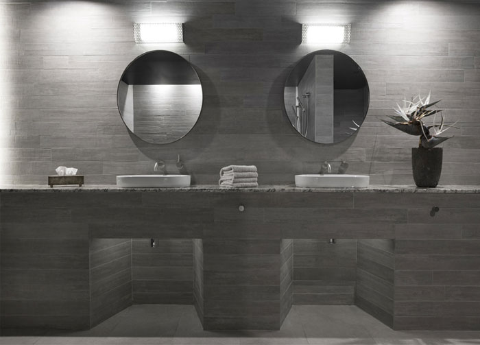 concrete walls bathroom decor