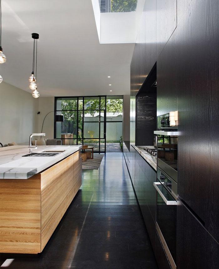 dark timber kitchen decor