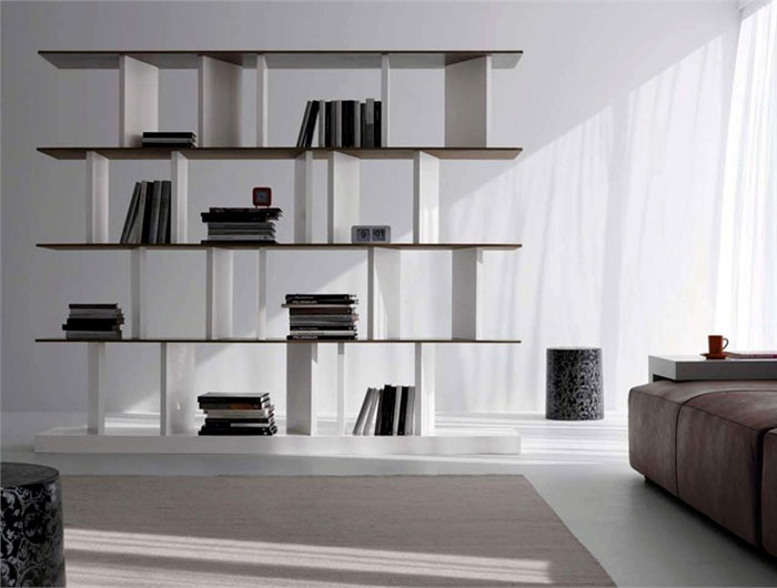 freestanding-cement-bookcase