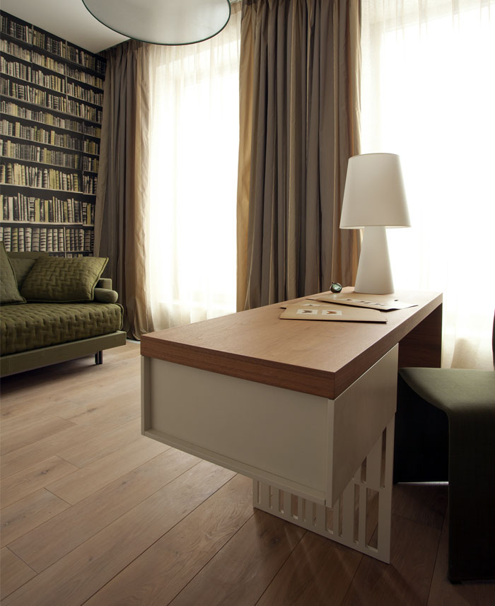 functional apartment bookshelf wallpaper