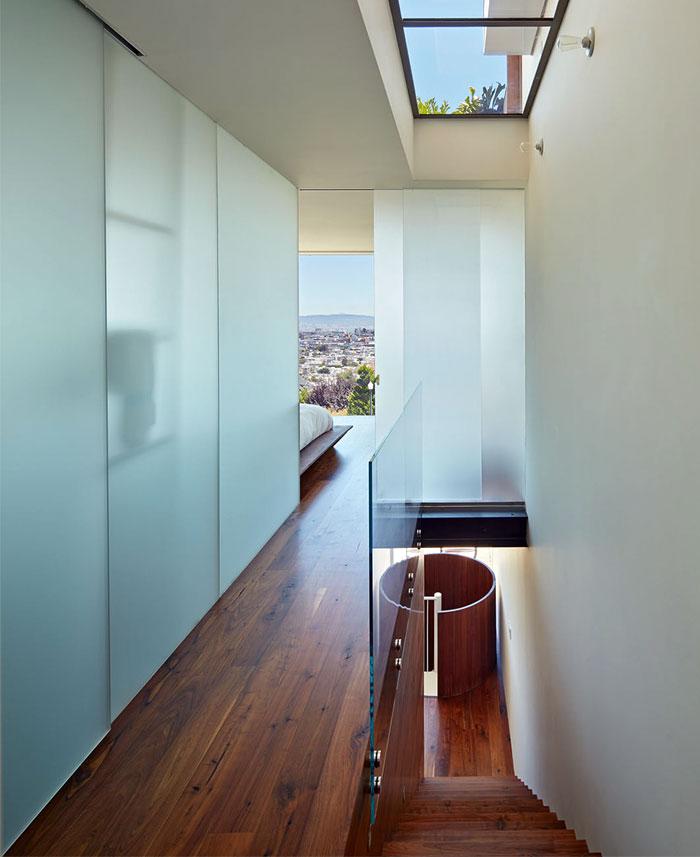 modern house stairway