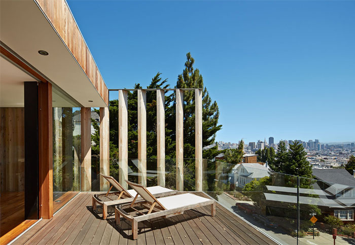 open filled light terrace spaces