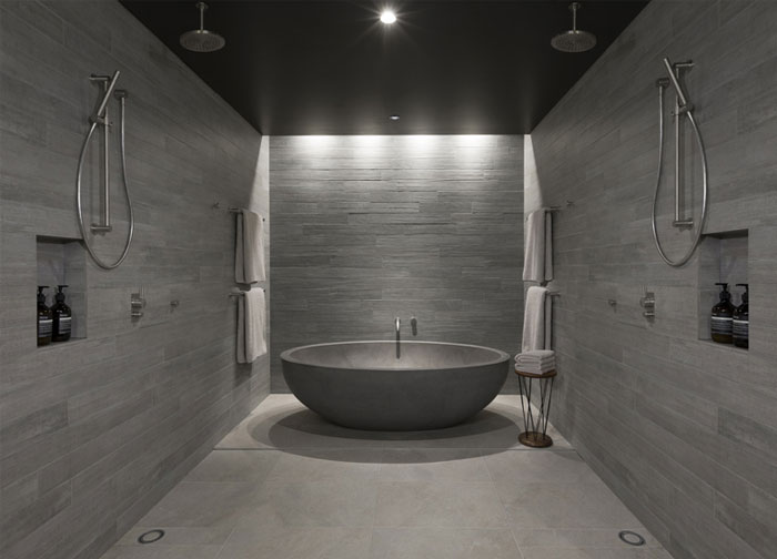 polished concrete bathroom decor