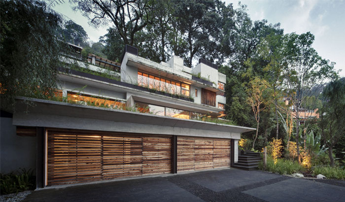 raw concrete house