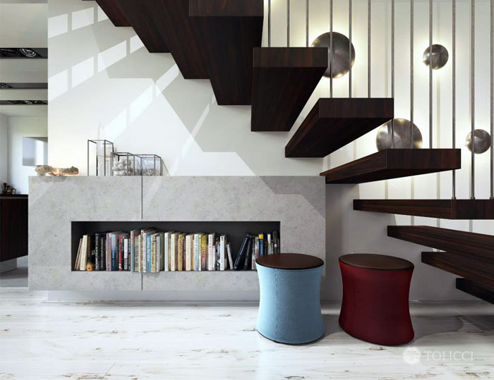 staircase-living-area