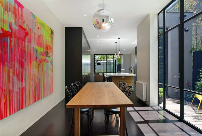 stylish elegance dining area interior