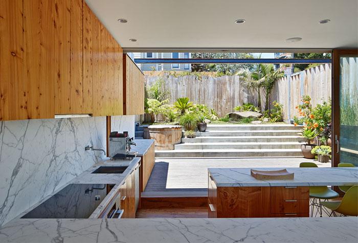 wood marble kitchen design