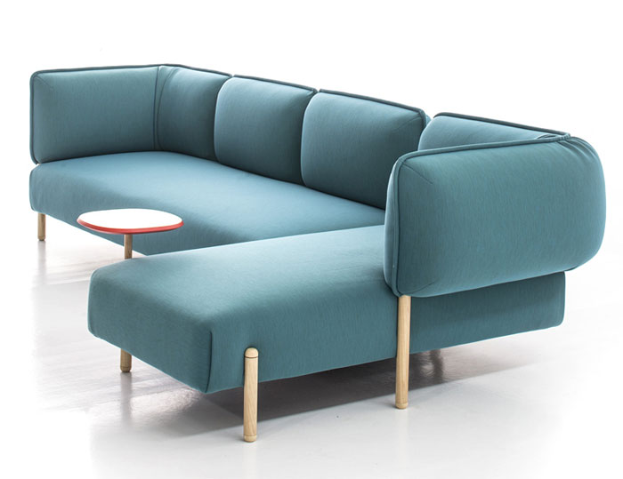 bright color rounded shape sofa