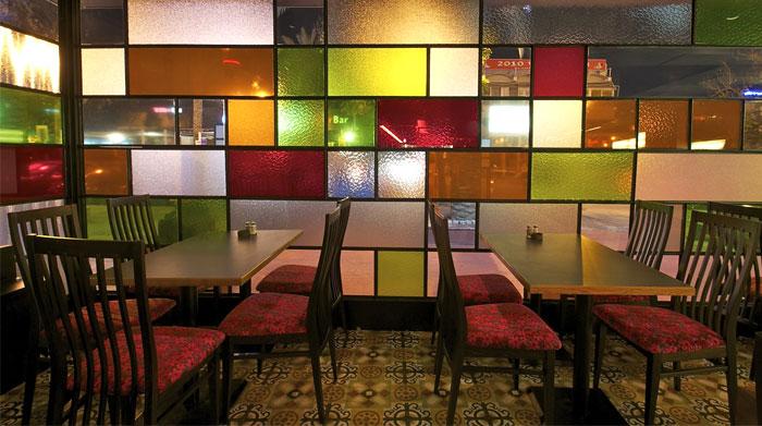 colored glass windows interior decor