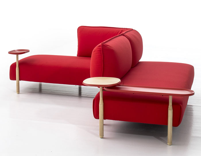easy to use red sofa