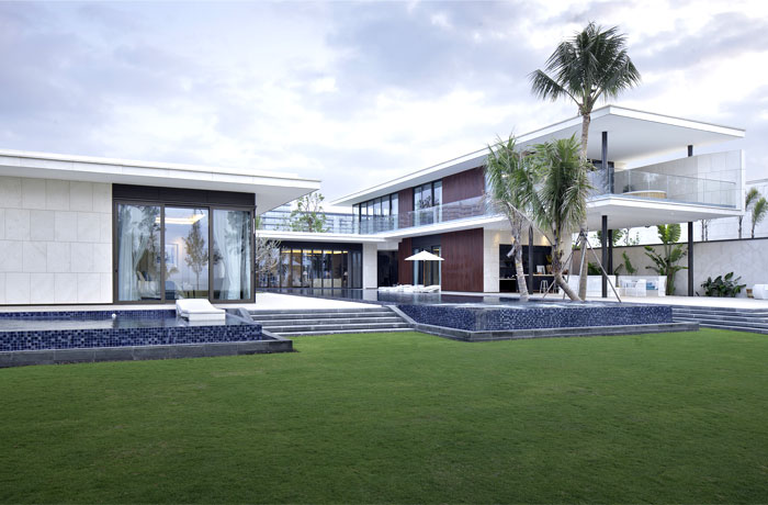 extremely modern luxurious villa