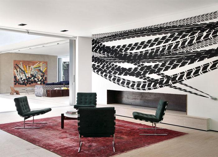 living room walls contemporary artwork