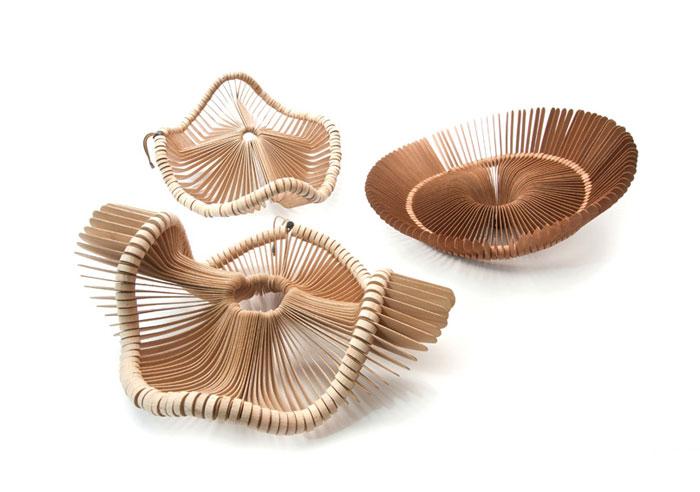 strong sculptural form baskets