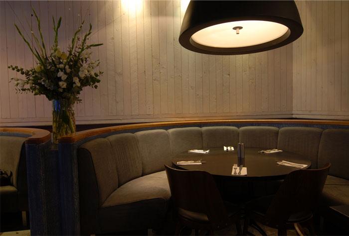 vintage style seafood restaurant interior