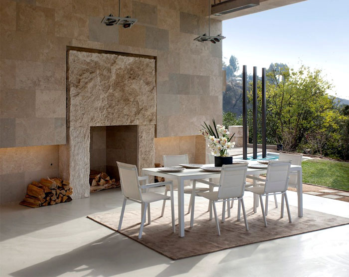 contemporary furnishing natural indoor outdoor flow