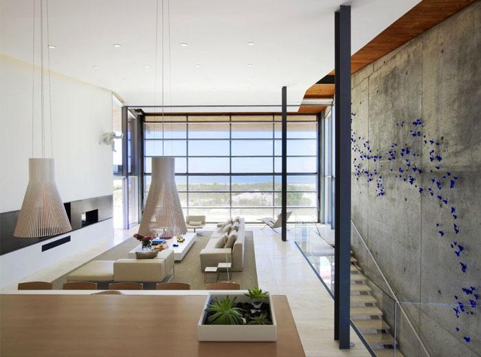 glass exposed concrete panels
