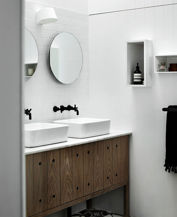 stylish outlook bathroom