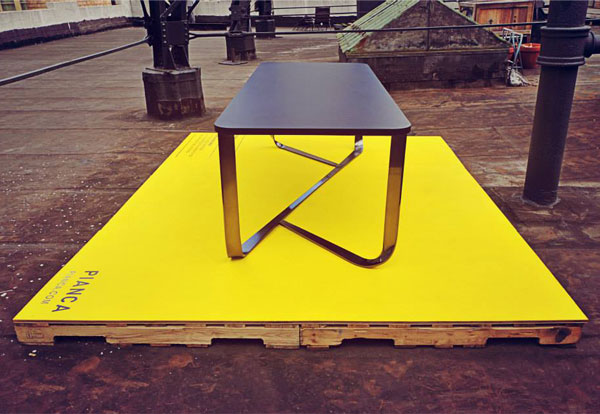 table rectangular steel structure